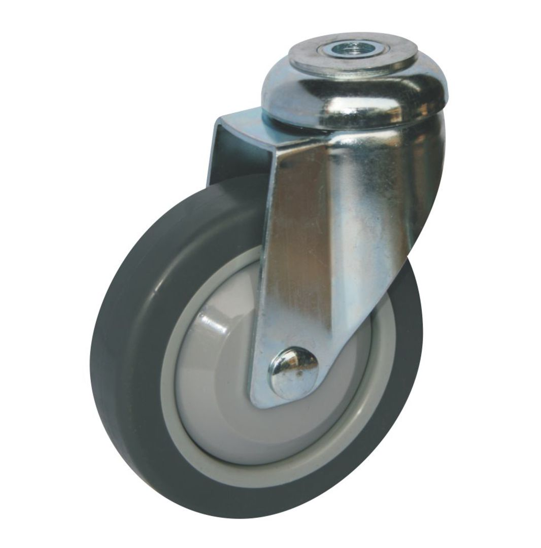 Swivel 100mm Rubber Castor - WLR100/H image 0