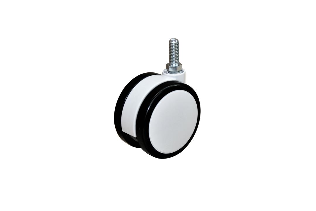 Twin Wheel Castor 100mm - M10 Thread - UTW100-M10 image 0