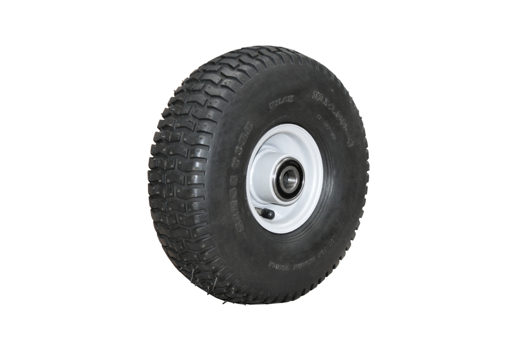 Pneumatic Wheel - Steel Rim - 11/400x4 Turf - RW100-114T image 0