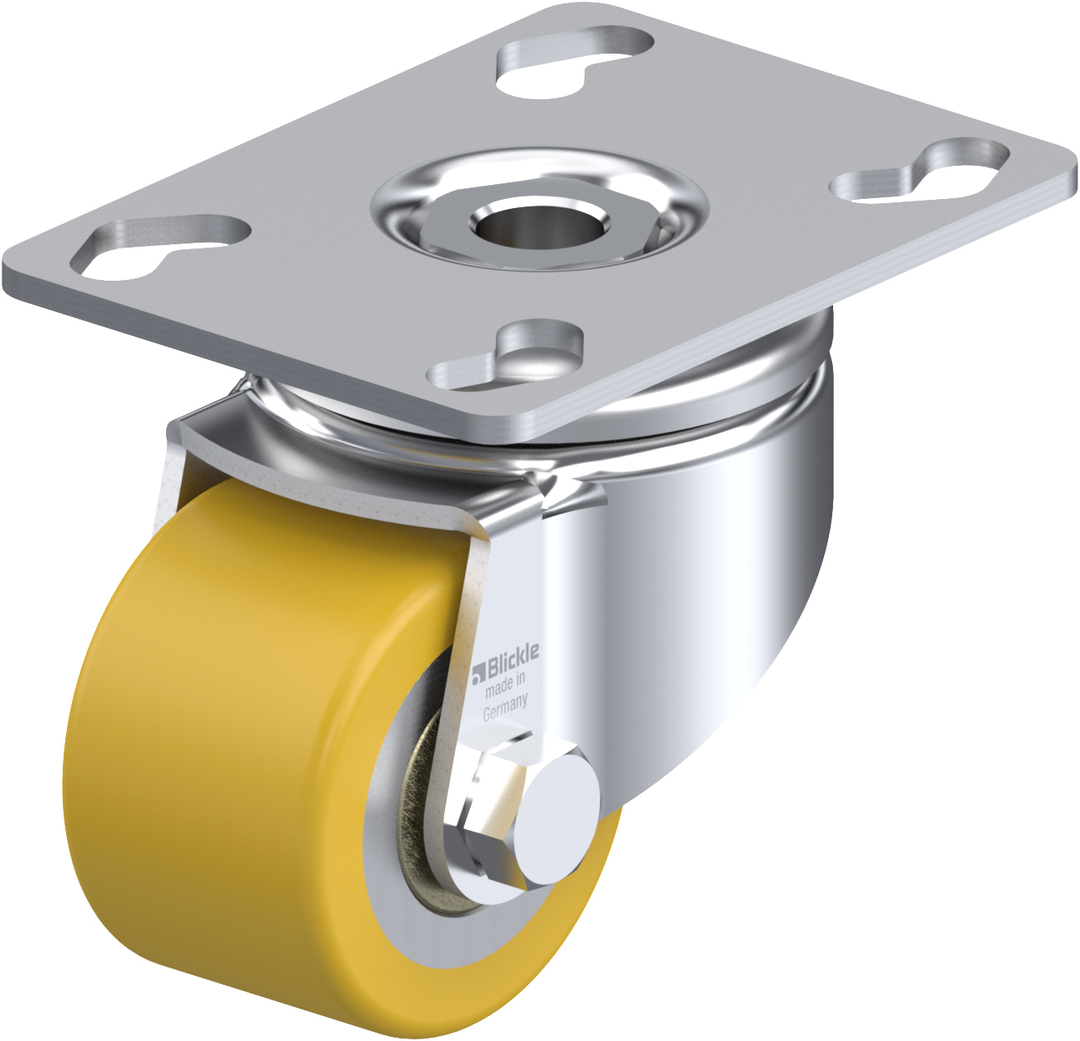 Swivel 50mm Urethane Castor - Low Profile -150KG - BHU50/P image 0