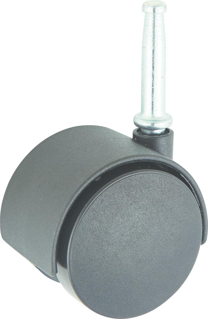 Twin Wheel Castor 50mm - Stem Fitting - TW50-S image 0