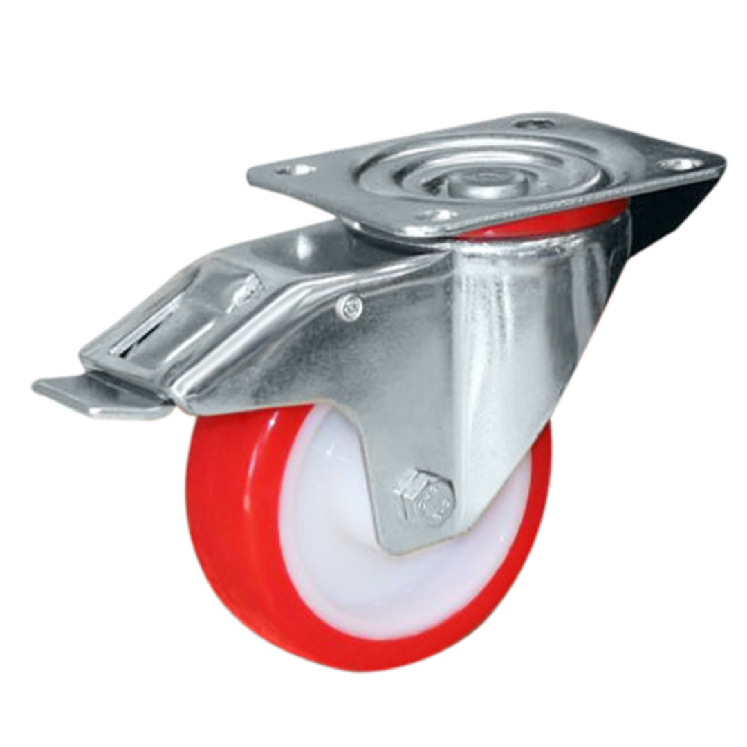 Swivel & Total Brake 80mm Urethane Castor - MCU80/P-TB image 0
