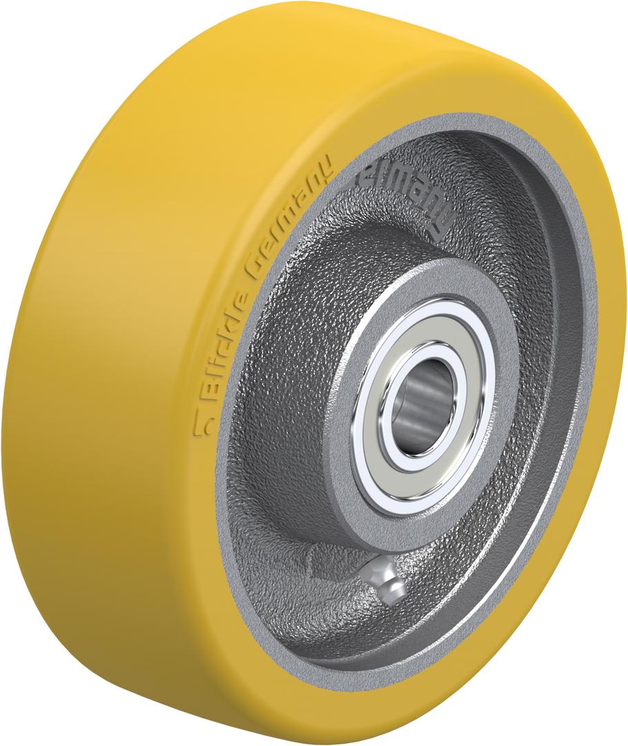 Urethane Wheel 200mm - Cast Iron Centre - BXU200 image 0
