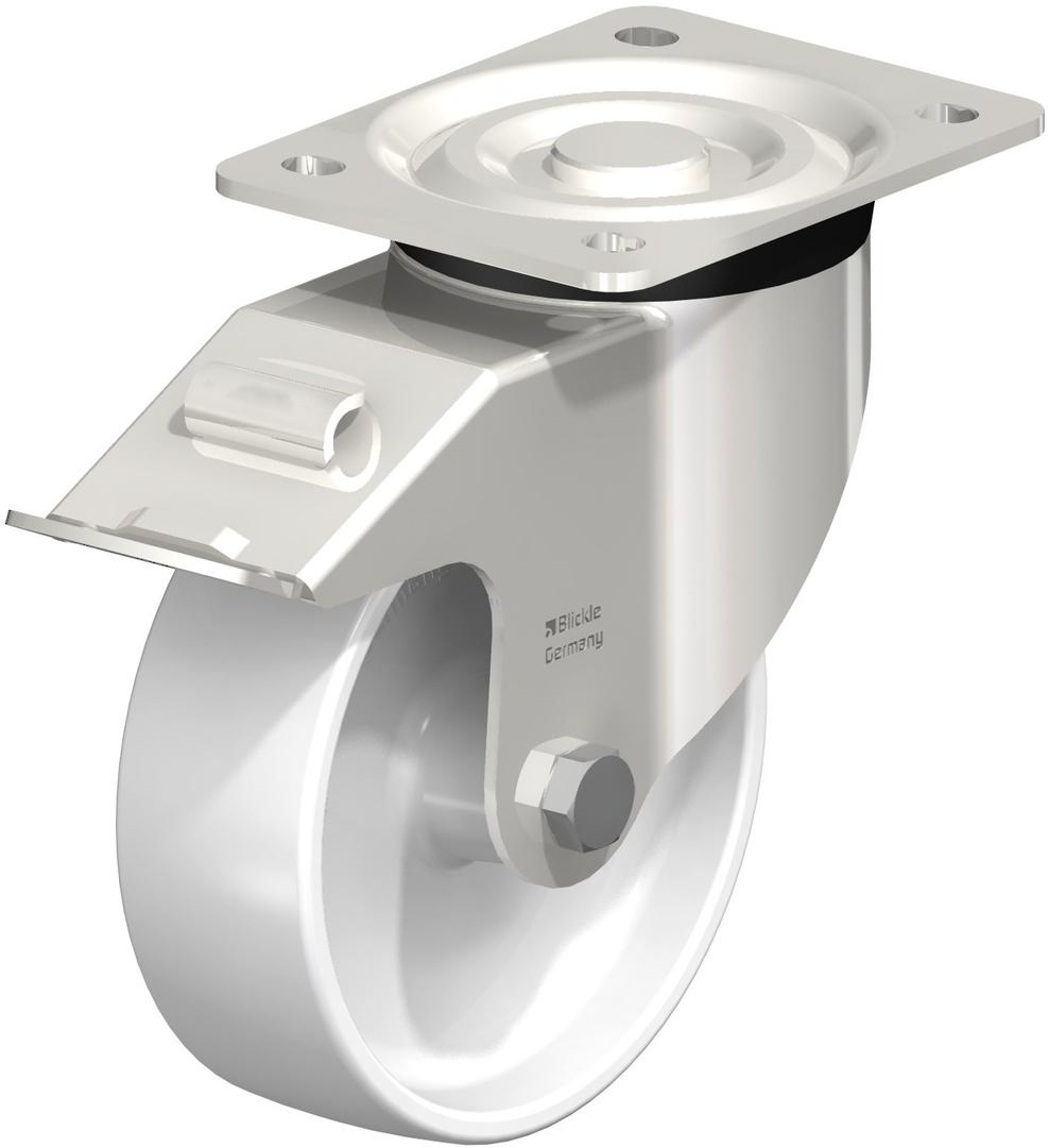 Swivel & Total Brake 150mm Nylon Castor - Stainless Steel - MSN150/SP-TB image 0
