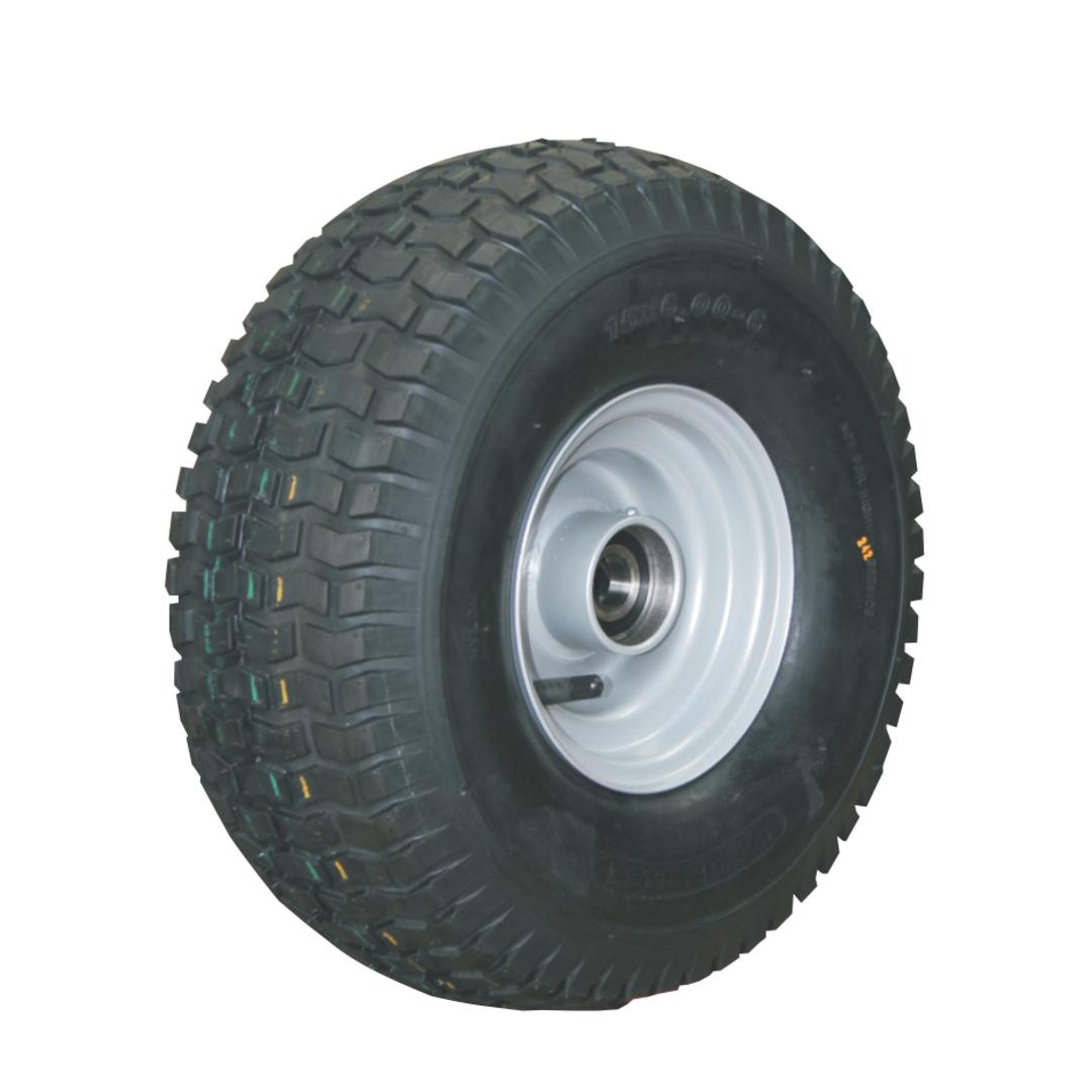 Pneumatic Wheel - Steel Rim - 15/600x6 Turf - RWW150-156T image 0