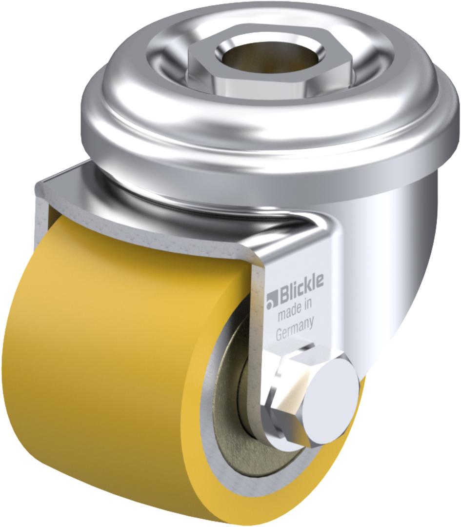 Swivel 35mm Urethane Castor - Low profile -100KG - BHU35/H image 0