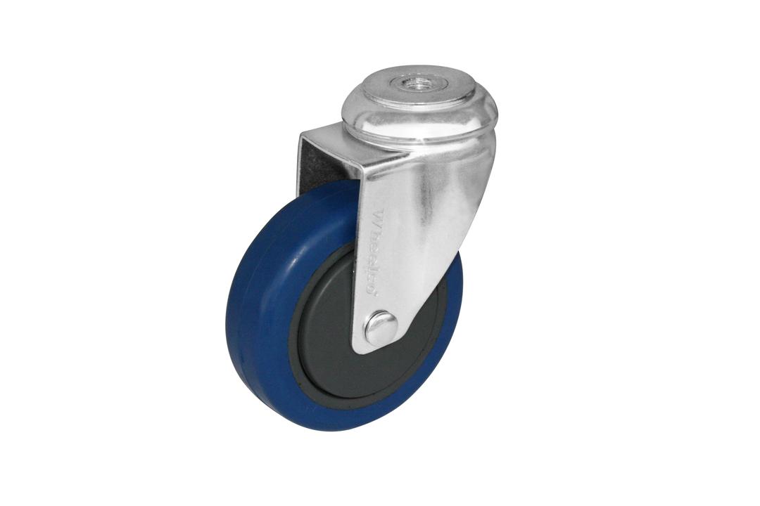 Swivel 125mm Elastic Rubber Castor - WCB125/H image 0