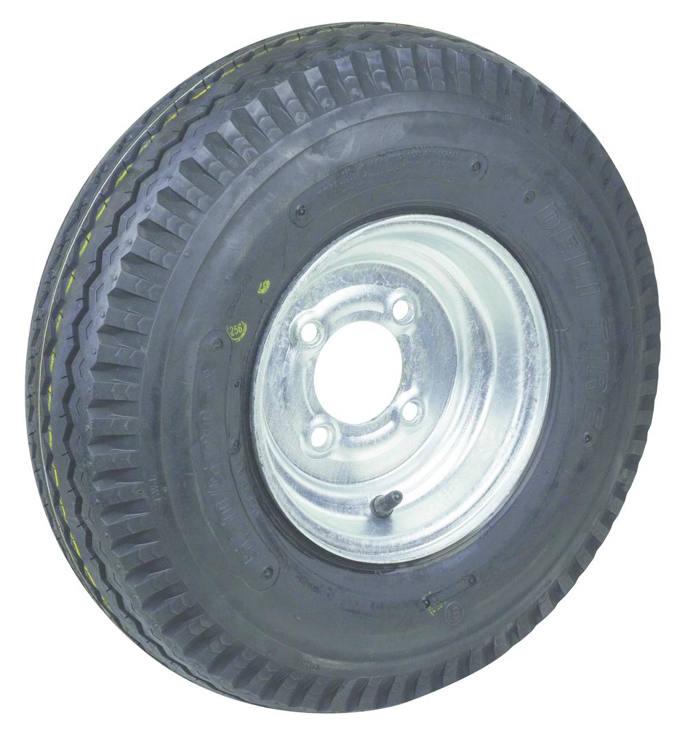 Pneumatic Wheel - Steel Rim - 500x10 Road 6ply - MW250-500R image 0