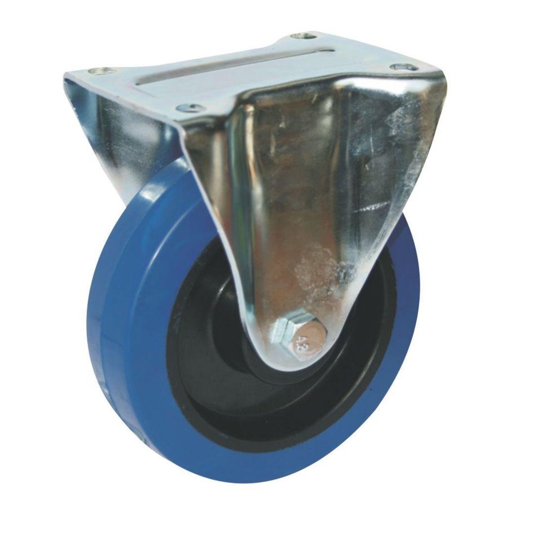 Fixed 150mm Elastic Rubber Castor - MHB150/F image 0