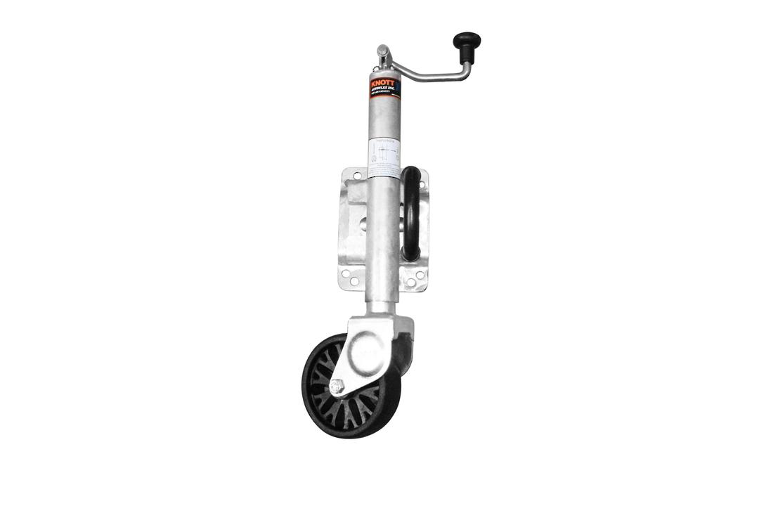 Swing up type Jockey Wheel 150mm nylon wheel JWK150 image 0