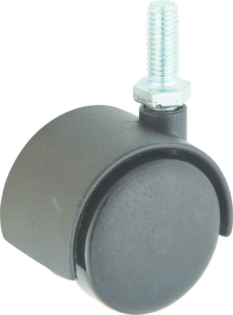 Twin Wheel Castor 50mm - 3/8 Thread - TW50-38 image 0