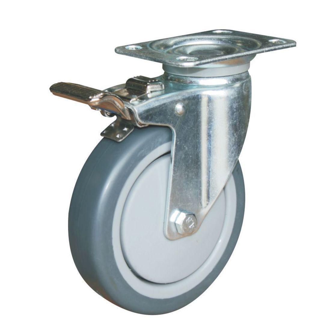 Swivel & Total Brake 125mm Rubber Castor - WCR125/P-TB image 0