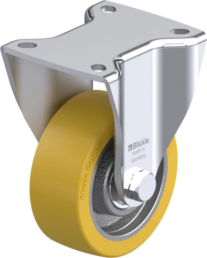 Fixed 100mm Heavy Duty Urethane Castor - MXU100/F image 0
