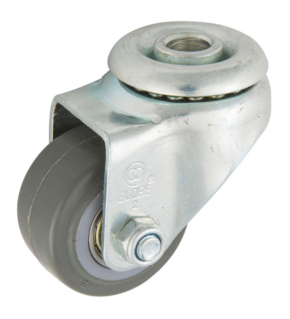 Swivel 50mm Urethane Castor - Low Profile -70KG- LRU50/H image 0