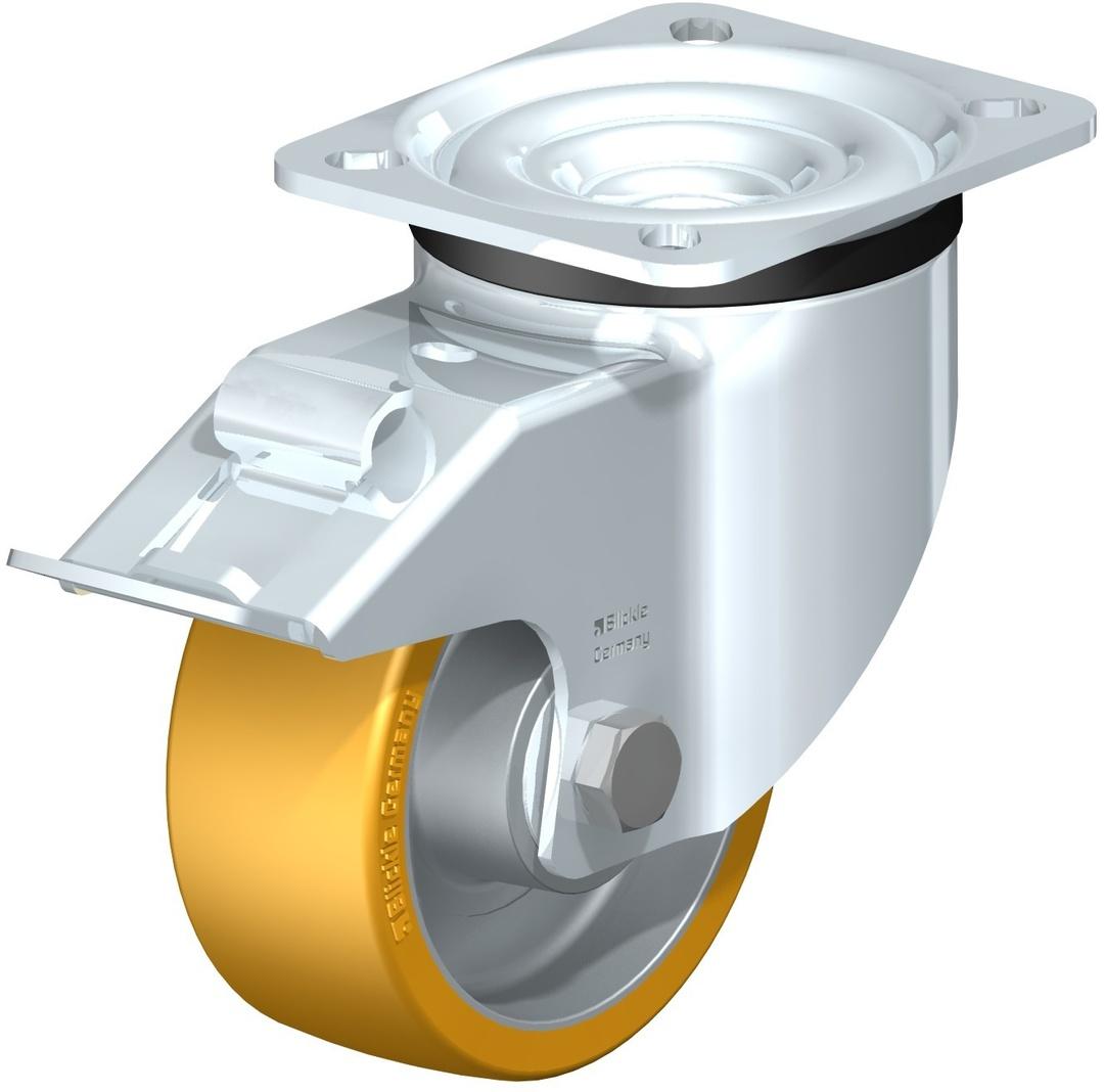 Swivel & Total Brake 100mm Urethane Castor - LKAU100P/TB image 0