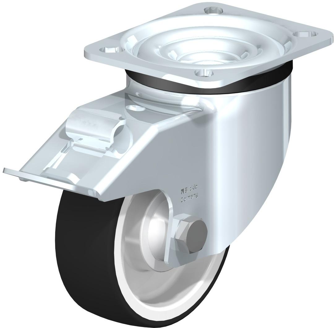 Swivel & Total Brake 100mm Urethane Castor - LKU100/P-TB image 0
