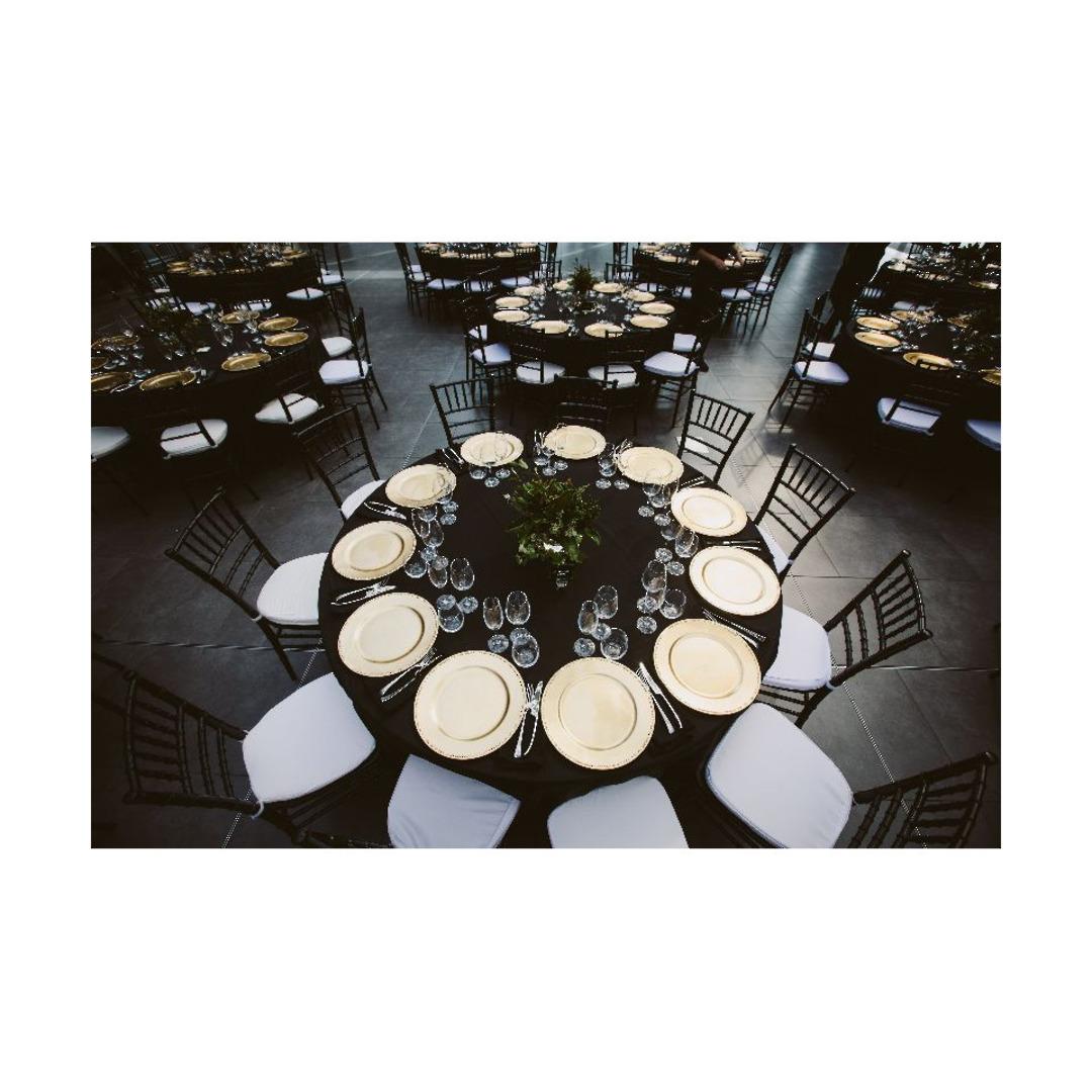 Round Cloths - Black - 1.8m , 2.4m and 3m image 0
