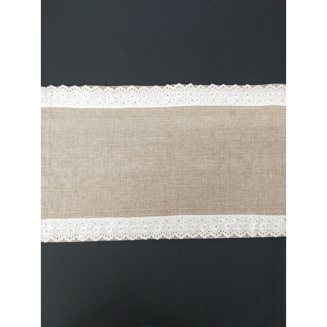 Table Runner - Burlap with Lace image 0