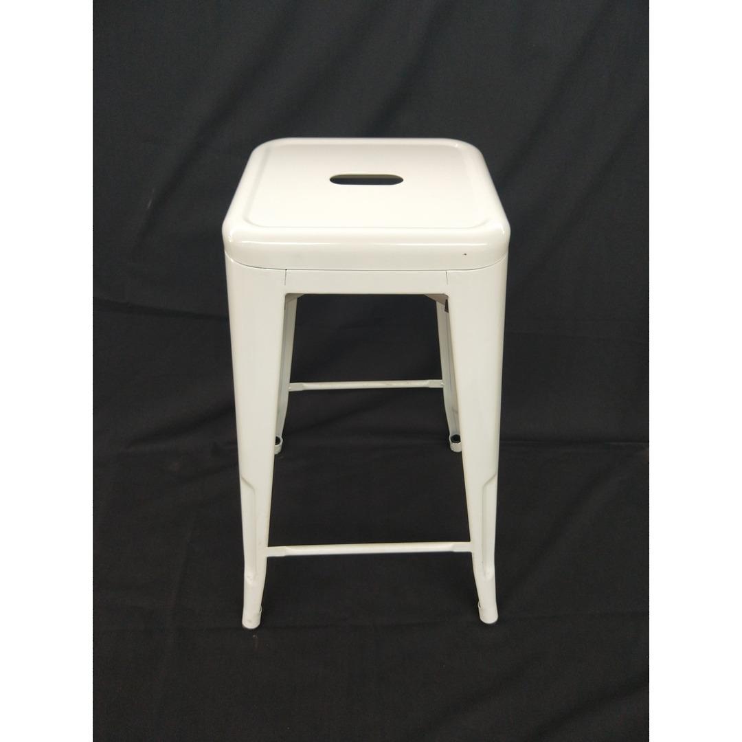 Bar Stool - Steel - White 65cm image 0