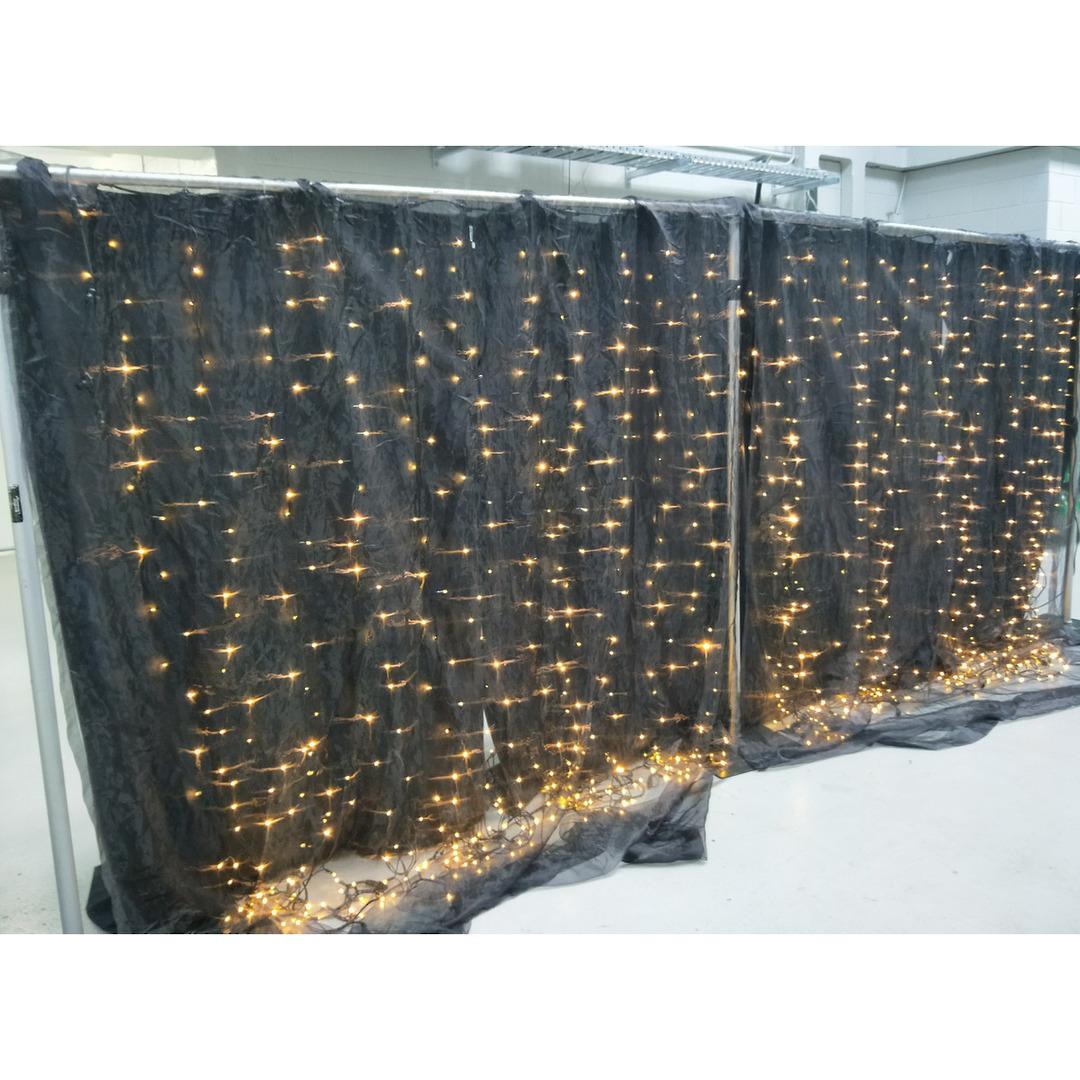 Fairy Light - Curtain Wall x2 - 5.4m - Black Warm White image 0
