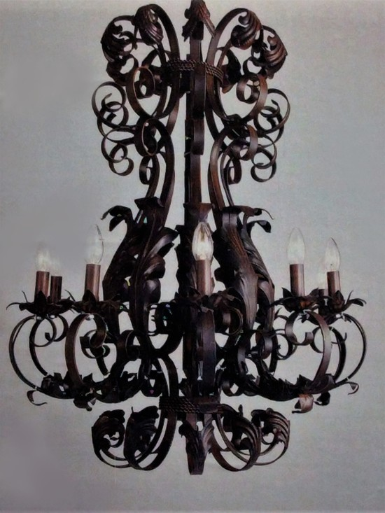 Wrought Iron Chandelier Black Gold Or, Wrought Iron Chandelier Nz