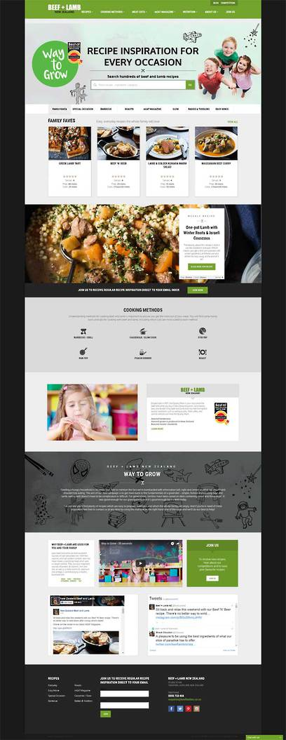 Beef + Lamb NZ Website designed by Zeald