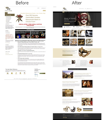 Italy Mask Website Redesign by Zeald