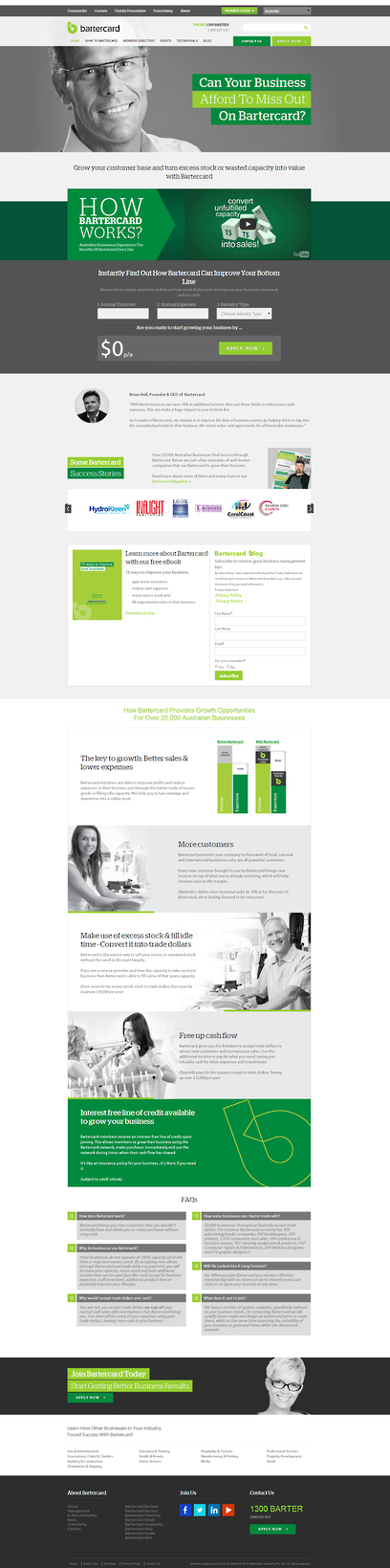 Bartercard Website  by Zeald