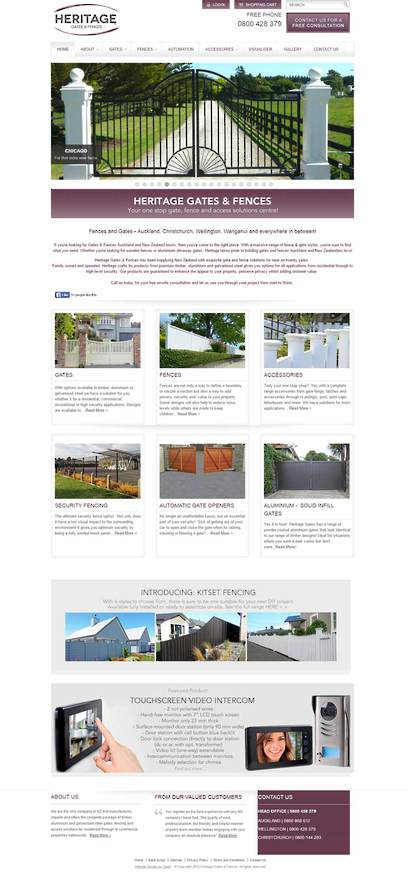 Heritage Gates Website Design by Zeald