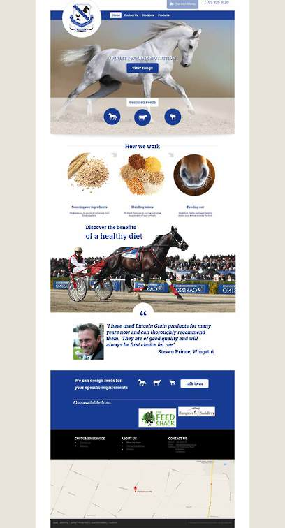 Lincoln Grain website design by Zeald
