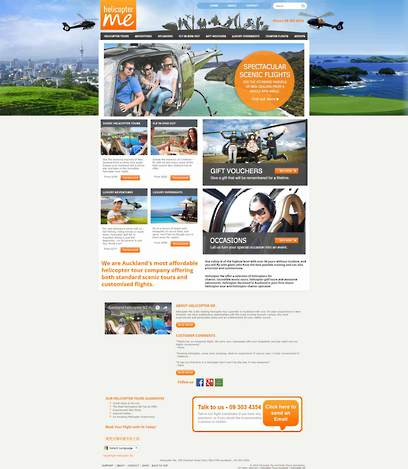 Helicopter Me Website Design by Zeald