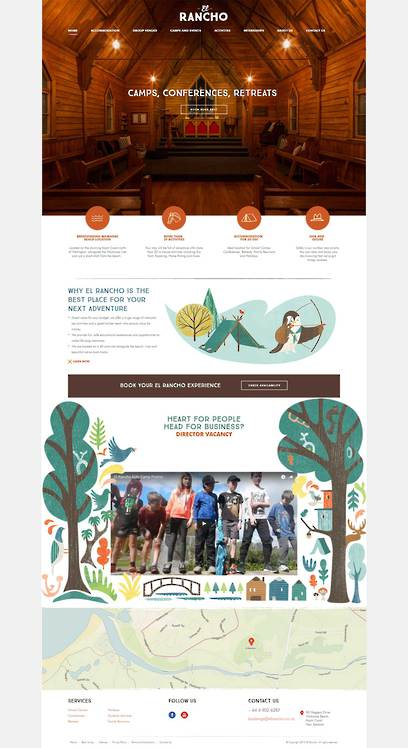 El Rancho Website Design by Zeald