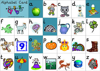 Alphabet | Lowercase | Letter-Sound | Card 2 | Sassoon Primary Style