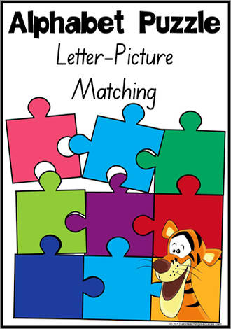 Alphabet Letter-Picture Matching Puzzle | SA Print