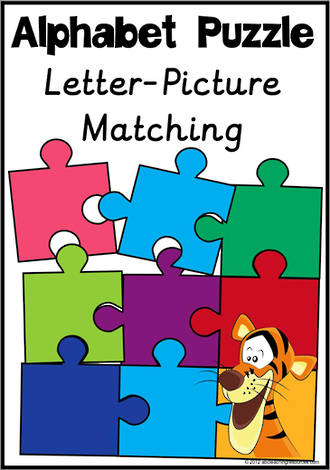 Alphabet Letter-Picture Matching Puzzle | Sassoon Primary Style
