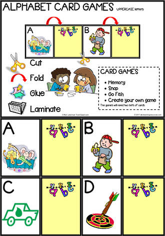 Alphabet Card Games    Uppercase Letters