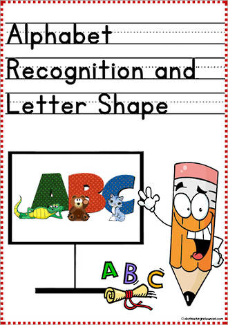Alphabet |  Recognition and  Letter Shape | Primary Print