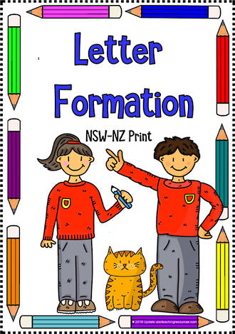 Alphabet  Recognition | Beginning Letter Formation | NSW-NZ Print
