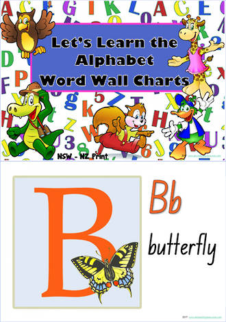 Let's Learn the Alphabet   NSW-NZ Print   Charts