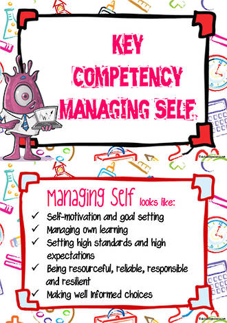 Key Competencies | Managing Self | ICT |Chart