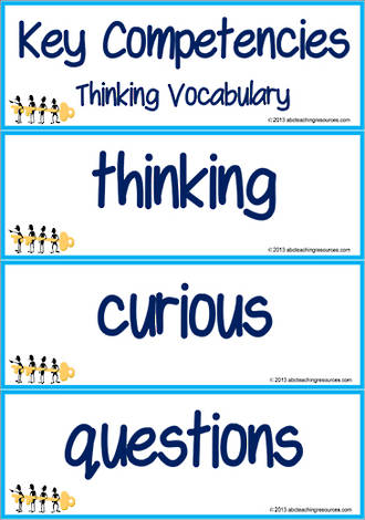 Key Competencies | Thinking | Vocabulary | Cards