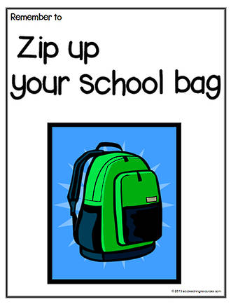 Remember To   Zip Up Your Bag   Chart