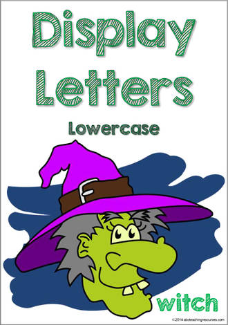 Display Letters | Lowercase | Green | Set 11