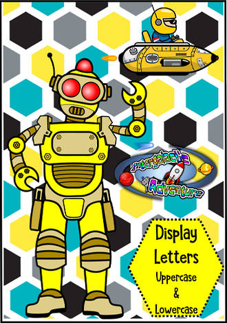 Instant Display | Hexagon Pattern Design | Uppercase & Lowercase  Letters