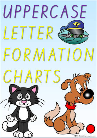 Foundation Handwriting | Letter Formation | UPPERCASE   |  Charts | VIC PreCursive