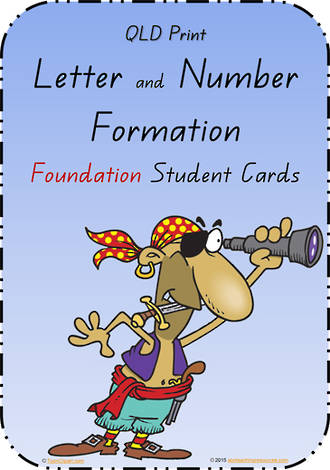 Foundation Handwriting | Letter Formation |  Cards | QLD Print