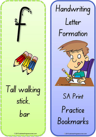 Foundation Handwriting   Terminology   Bookmark   Lowercase Letter   Cards   SA Print