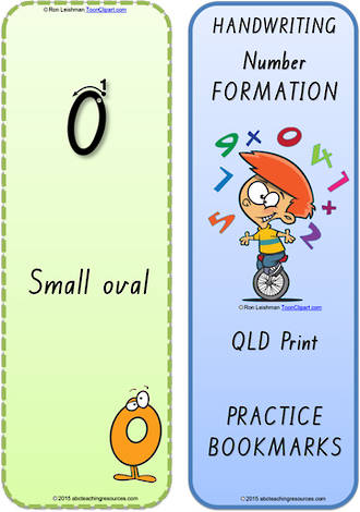 Foundation Handwriting | Terminology | Bookmark | Number | Cards | QLD Print