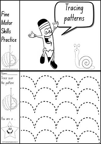 Foundation  Handwriting | Practice | Tracing Patterns | Black and White | Charts | NSW-NZ Print