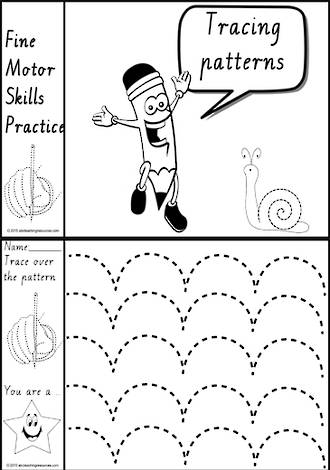 Foundation  Handwriting | Practice | Tracing Patterns | Black and White | Charts | VIC PreCursive